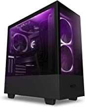 NZXT H510 Elite - Compact ATX PC Gaming Case - RGB LED & Smart Fan Control - Tempered Glass - Matte Black