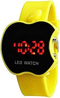 Swissrock Apple Shape Kids Yellow LED Wrist Watch