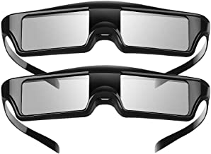 3D Active Blue Tooth Glasses Compatible with Sony Epson Projectors (Pack 2)