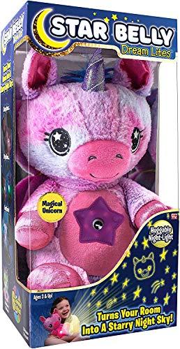 Ontel Star Belly Dream Lites, Stuffed Animal Night Light, MagicalPink and Purple Unicorn, As Seen on TV