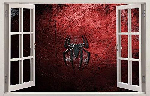 DQPCC Wandtattoo Film Hero Spider 3D Fenster Aufkleber Wandaufkleber Home Decor Art Wandbild