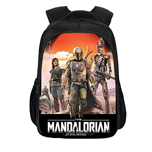 The Mandalorian Popular School Backpack Trekking Rucksack Hiking Bag Printed Daypack Children's Backpacks Kids (Color : A14, Size : 40 X 27 X 17cm)