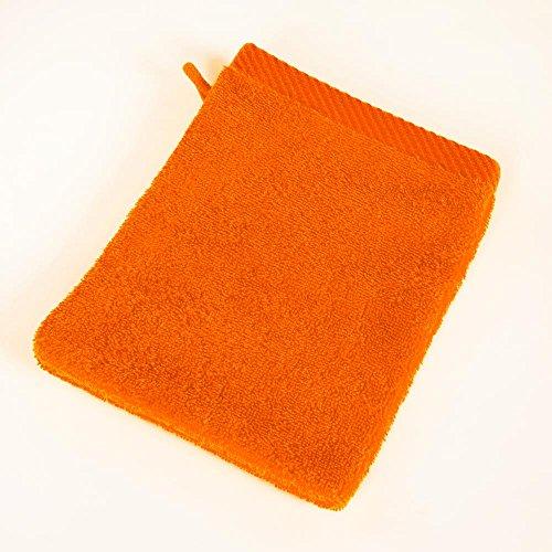 Mixitextil - Juego de 4 Toallas de Mano, Resistentes a la decoloración, para Invitados, para la Ducha, el baño, la Sauna, Color Naranja
