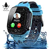 Jaybest Kinder Smartwatch,Wasserdichte Smart Watch für Kinder,kids Smart Watch Phone mit LBS Tracker SOS Voice Chat Kamera Spiel für Jungen und Mädchen, Geburtstagsgeschenk (blau)