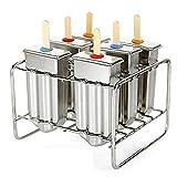 Yanghao Stieleis Moulds, EIS Am Stiel-Formen Stellten, 6 Stieleis Makers, Edelstahl Popsicle Mold,C