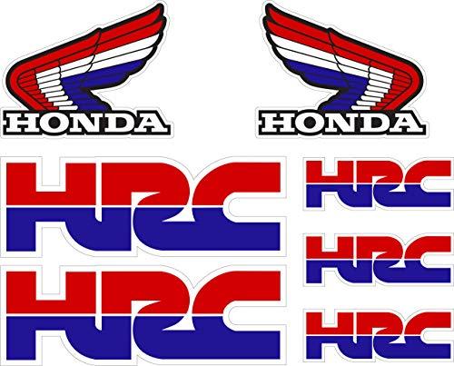 7 Pegatinas Adhesivo Vinilo de Impresión Digital Laminado Compatible con Honda HRC Hoja Tamaño A4 7 Pegatinas