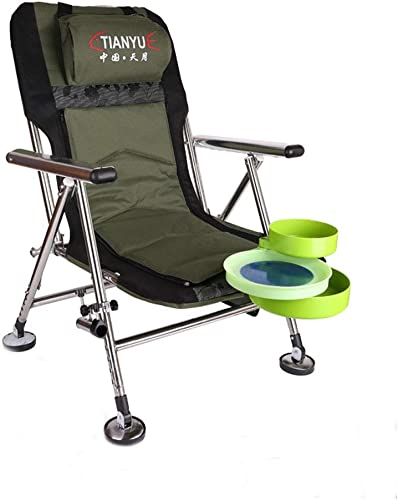 YYZDY12 Chaise de pêche Chaise de Plage en Acier Inoxydable Camping en Plein air Fournitures de pêche Chaise Pliante