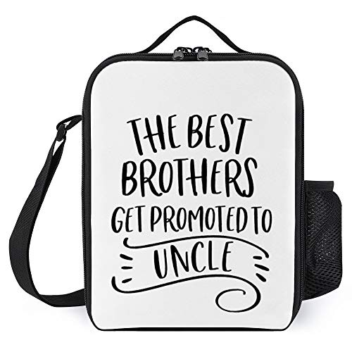 The Best Brothers Get Promoted To Uncle Halloween Theme Lunch Bags Gift For Women Men Teens Girls Kids Lunch Container Boxes Insulated Cooler Tote Bags with Bottle Holder Reusable For Work School