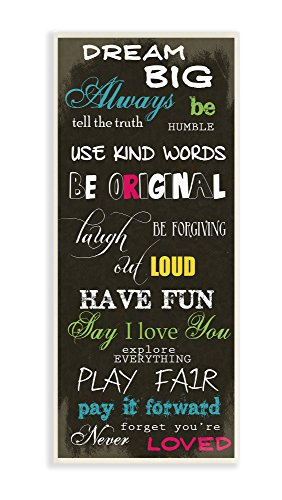 The Kids Room by Stupell Dream Big Multi Color Typog Wall Plaque Art