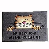wash+dry Fußmatte ©Uli Stein Katze - Mein Reich! Meine Regeln! 50x75cm Fußabstreifer