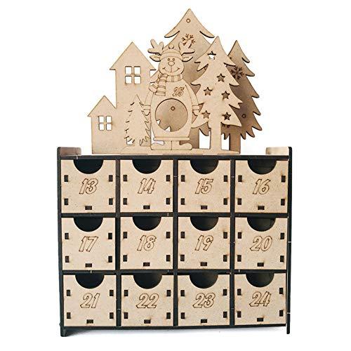 Ironhorse Kerst Countdown adventskalender Chocolade Doos Kasten Herbruikbare Laden Kerst Voor DIY Kerst Party Accessoires