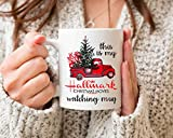 Tazza da caffè in ceramica con scritta in inglese 'This is My Christmas Movies Watching 2020', regalo di Babbo Natale per uomini e donne, 325 ml