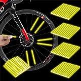 Herefun Bicicleta Spoke Reflector, 48 Piezas para Bicicleta Ciclismo Reflectante Clips, Alta Visibilidad Reflectores, Reflectante para Rueda, Cubierta de radios (Y)