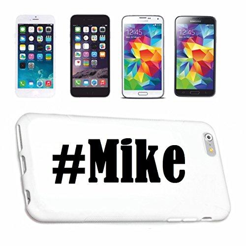 Reifen-Markt Handyhülle kompatibel mit Samsung S4 Mini Galaxy Hashtag #Mike im Social Network Design Hardcase Schutzhülle Handy Cover Smart Cover
