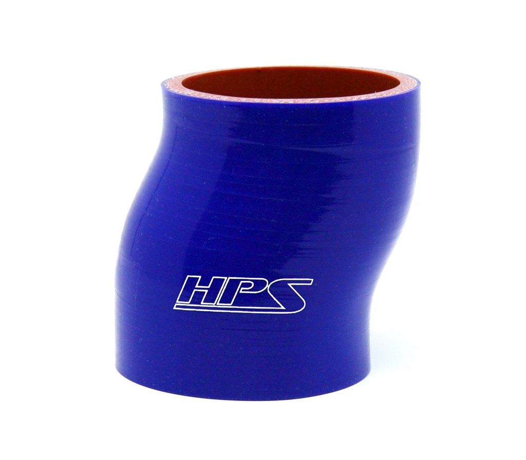 Blue Silicone Offset Coupler Hose HPS 2 ID High Temp 4-ply Reinforced 6 Length