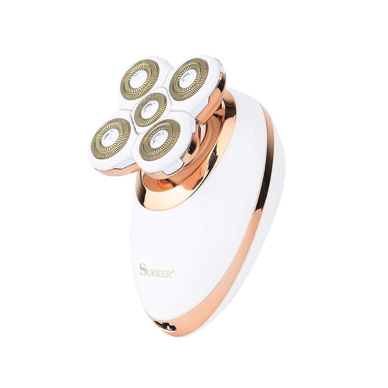 シャベル関与するリブコードレス電動脱毛脱毛器、充電式防水電気シェーバーインスタント脱毛器、ウェット&ドライ。