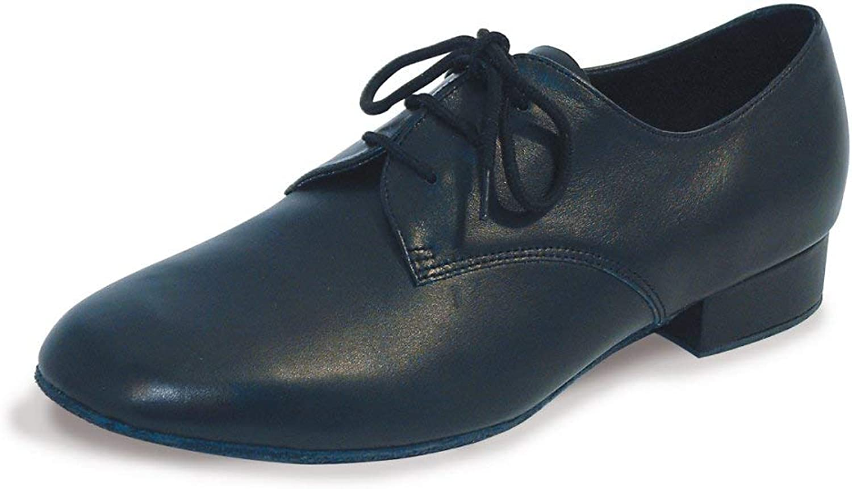 Zeus Men's Leather Ballroom shoes, Black, 11 UK