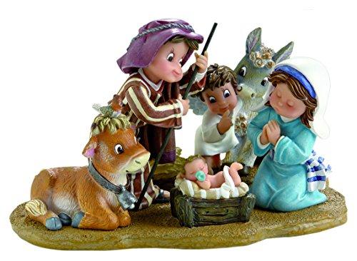 Nadal Figura Decorativa, Resina, Multicolor, 17.50X10.50X11.00 cm