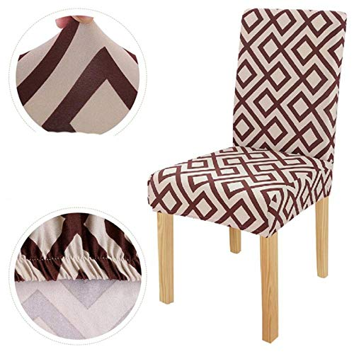 LLAAIT 1/4/6pcs Christmas Chair Covers Big Elastic Seat Chair Covers Xmas Stretch High Back Slipcovers for 2021 New Year Banquet Party