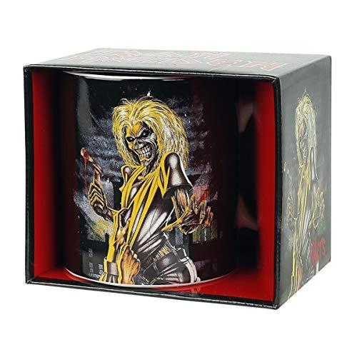 Unbekannt Iron Maiden 1012353810Taza Killer, Acero Inoxidable, Color Blanco, 9x 4x 4cm