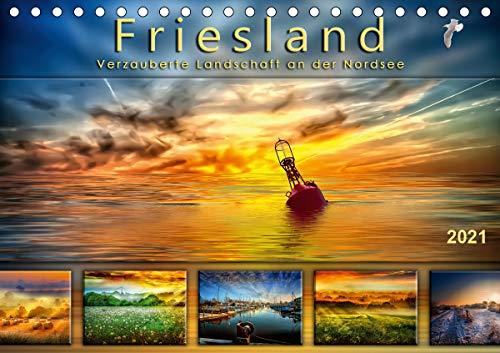 Friesland, verzauberte Landschaft an der Nordsee (Tischkalender 2021 DIN A5 quer)