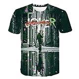 Xrwz T-Shirt Camiseta De Manga Corta Unisex Tops Tees Polos Suave 3D Patrón Impreso para Transpirable Camisetas Verano Casual Manga Corta Ropa Camisetas Polos y Camisas Suicide Squad Joker
