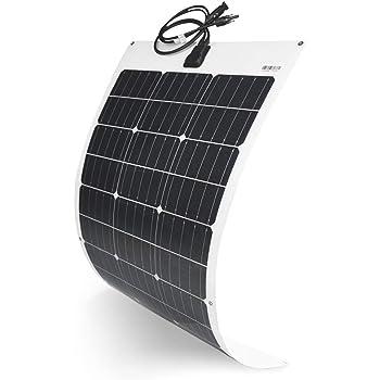 TP-solar Flexible Solar Panel 100W 12V Monocrystalline Bendable - 100 Watt 12Volt Semi-Flexible Mono Solar Panels Charger Off-Grid for RV Boat Cabin Van Car Uneven Surfaces