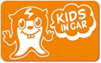 imoninn KIDS in car ステッカー 【マグネットタイプ】 No.64 ピースさん (オレンジ色)