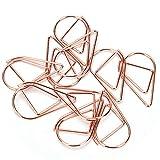 Graffetta - 100pz Forma di goccia d'acqua Segnalibro Graffetta in metallo Retrò cava piccola Segnalibro a forma di goccia Graffette per libro, Memo, Carta, Poster, Foto (oro rosa)