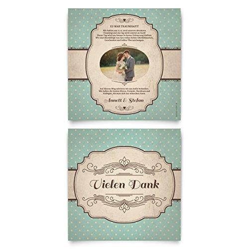 30 x Hochzeit Danksagungskarten Danksagung - 50er Jahre Vintage