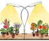 60W Lampada per Piante,2 Pack Grow Bulbs,88 LED, Upgrade Grow Light Full Spectrum per semina crescita,fioritura e fruttificazione, Lampada per Coltivazione Indoor Con Timer Automatico 3H/6H/12H
