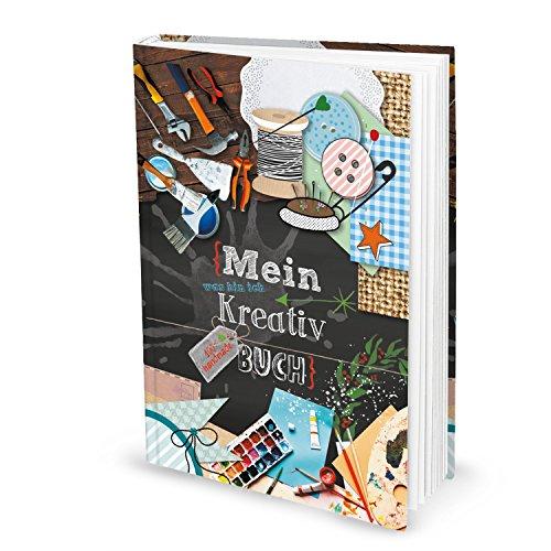 Logbuch-Verlag XXL leeres Bastelbuch Notizbuch für Bastelideen Ideenbuch KREATIVBUCH Malbuch Kinder nähen stricken Patchwork DIN A4 groß Blankobuch