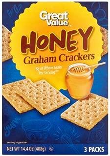 Great Value Honey Graham Crackers, 14.4 oz