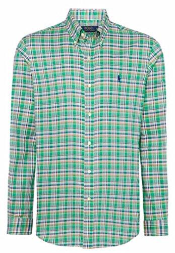 Polo Ralph Lauren CUSTOM FIT Camicia Uomo maniche Lunghe colore CR-17 GREEN BLUE (S, CR-17 GREEN BLUE)