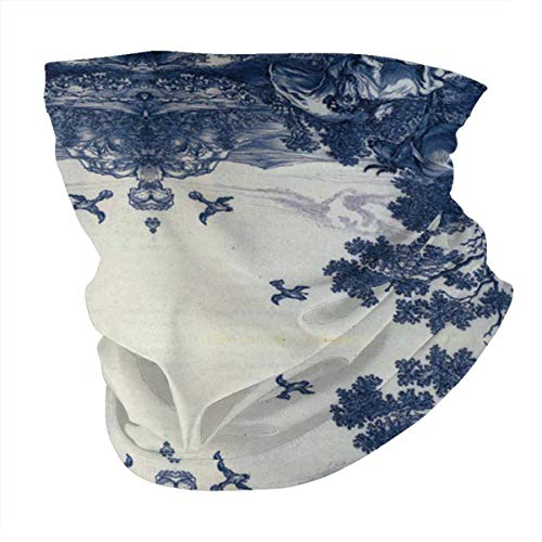 Antokos Delft azul cerámica unisex reutilizable ajustable cara cubierta bufanda protección UV cuello pasamontañas 3d impreso variedad cabeza bufanda