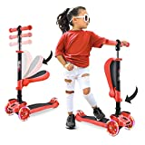 Hurtle 3-Wheeled Scooter for Kids, Red