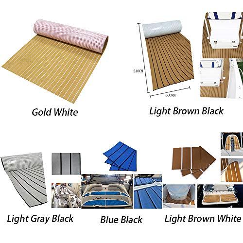 EVA Foam Faux Teak Decking Sheet,Boat Teak Decking,DIY Self-Adhesive Floor Pad for Fish Boat Yacht RV Flooring Decking