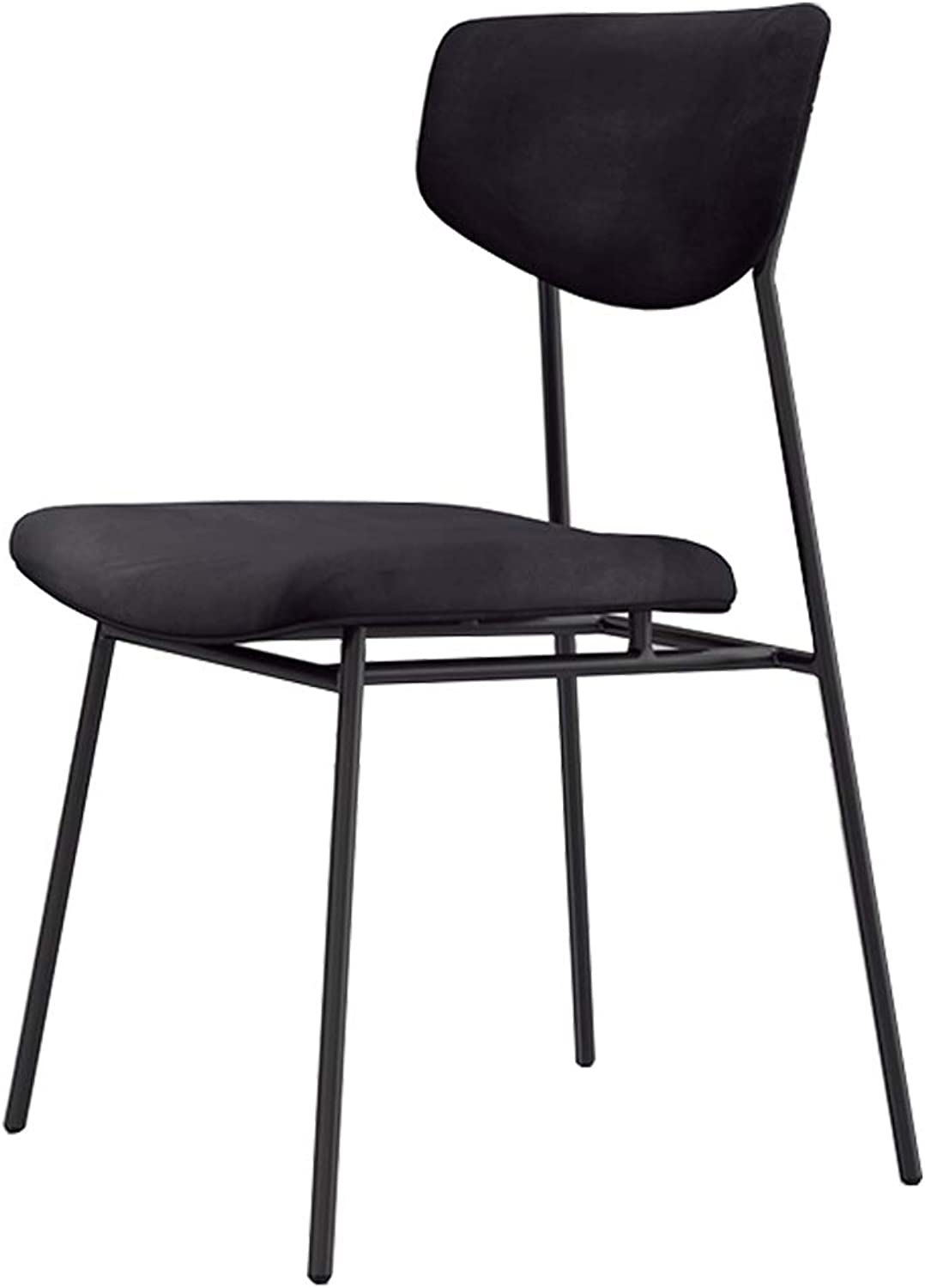 Comfortable Bar Stools for Kids Adults   Seat Height 45cm  Upholstered Dining Chairs with Backrest for Kitchen Pub  Black Velvet Cushion Barstools