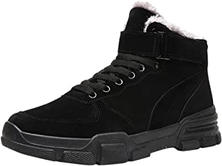 Famisamy 🍁🍁 Fashion Men's Winter Plus Velvet Waterproof Non-Slip British Casual Cotton Boots