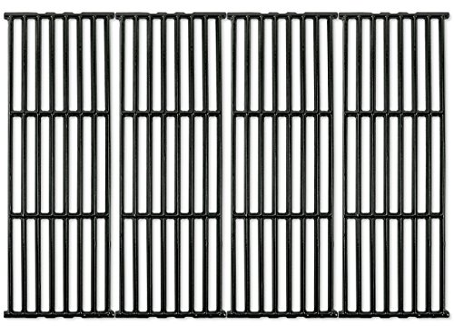 Music City Metals 66024 - Set of 4 - Gloss Cast Iron Cooking Grid Replacement for Gas Grills by Broil-Mate, Broil King, Huntington and Sterling