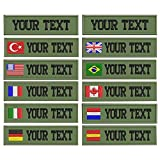 Custom Military Name Patch Embroidered,Name tag Personalized (Army Green)