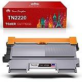 TonerKingdom TN2220 TN2010 Cartucho de Tóner Compatible en Negro, 2600 Páginas, Tóner de Repuesto para Brother HL-2130 HL-2250DN DCP-7055 DCP-7055W HL-2220 HL-2132 HL-2230 HL-2240 (Paquete de 1)