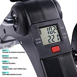 Cozylifeunion Pedal Exerciser - Portable Desk Cycle - Hand, Arm & Leg Exercise Peddling Machine - Low Impact, Adjustable Fitness Rehab Equipment for Seniors, Elderly - Folding Mini Stationary Bike