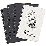 Bloc de Notas Espiral A5 Cuaderno Forrado, Pequeña Cuaderno de Notas Con...