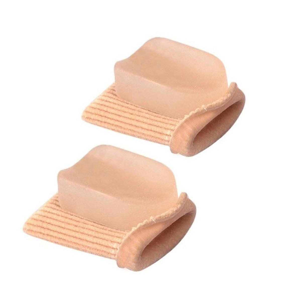 麦芽聡明侵入するDeeploveUU 高弾性つま先指ストレイテナーハンマーつま先外反母矯正包帯つま先セパレーターフットケア包帯