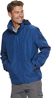 ZeroXposur Mens Rain Jacket, Hardshell Detachable Hoodie Rain Coats for Men