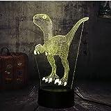 Jurassic World Dinosaur Clever Blue 3D Led Lampada Da Tavolo 7 Cambia Colore Luce Notturna Room Decor Regalo Di Natale Giocattolo Per Bambini