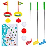 Phobby Kids Golf Club Set, Toddler Mini Golf Indoor Outdoor Lawn Sport Toys Game Play Set Active Exercise Gifts for Baby Child Boy Girl 3 4 5 6 Year