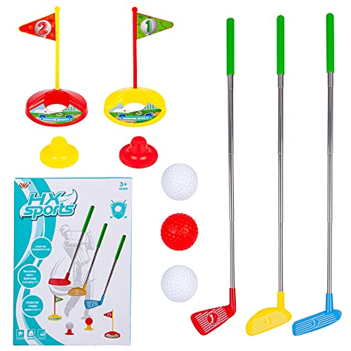 Phobby Kids Golf Club Set, Toddler Mini Golf Indoor Outdoor Lawn Sport Toys Game Play Set Active Exercise Gifts for Baby...