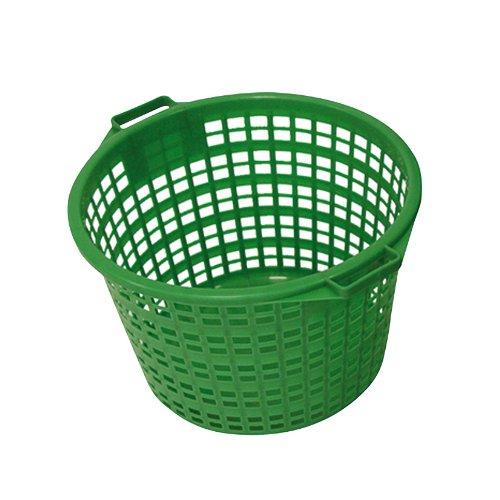 Xclou 343180 Gartenkorb rund 15 kg, Kunststoff, grün